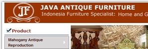 web design Java Antique Furniture